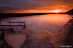On Golden Pond (Azzmataz) Tags: sea sun pool rock clouds swimming sunrise hall open d air north rail tyne wear east explore baths tynemouth explored a ©2010 anthonyhallphotographic ©2010adhall