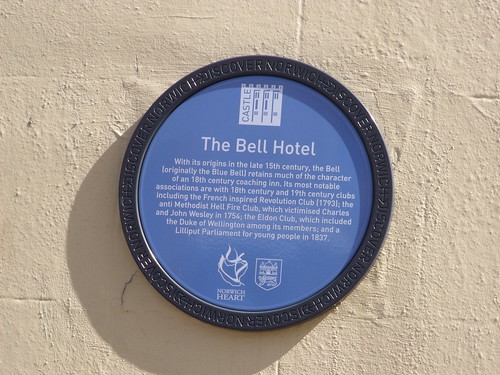 The Bell Hotel - Norwich - Santander - Discover Norwich Blue plaque