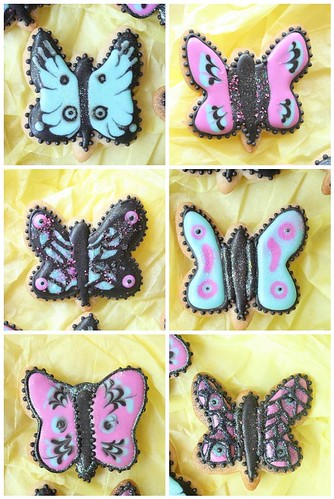Royal icing butterfly cookies