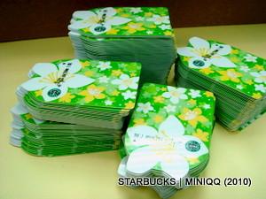 【猜猜有幾張?】 Starbucks台灣統一星巴克 油桐花造型隨行卡 (2010 May)
