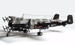 Heinkel He-219 Uhu (1) (Mad physicist) Tags: germany lego aircraft wwii heinkel ww2 nightfighter