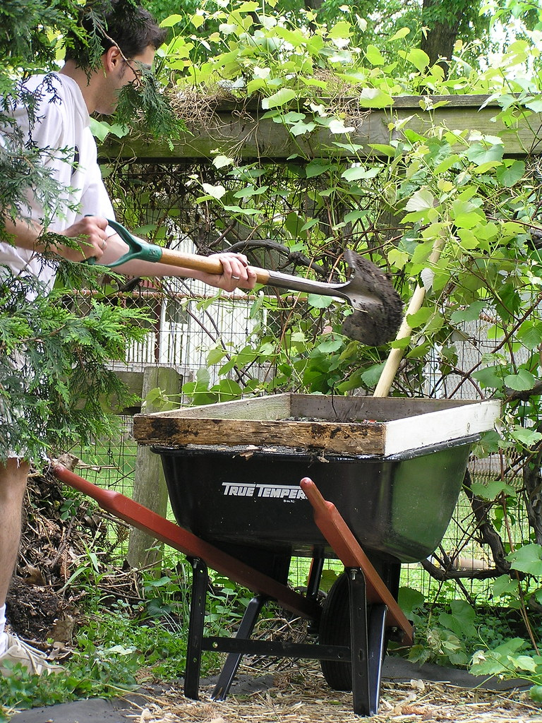 sifting compost