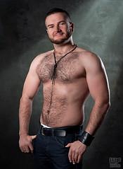 Suki 07 (WF portraits) Tags: bear portrait hairy male leather studio naked beard model muscle chest jeans
