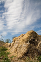 Bales In The Sky (peterkelly) Tags: blue cambridge sky cloud ontario canada field digital meadow straw canadian blair northamerica bales waterlooregion rarecharitableresearchreserve northdumfries springbankfarm