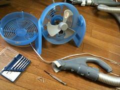 扇風機を分解して掃除