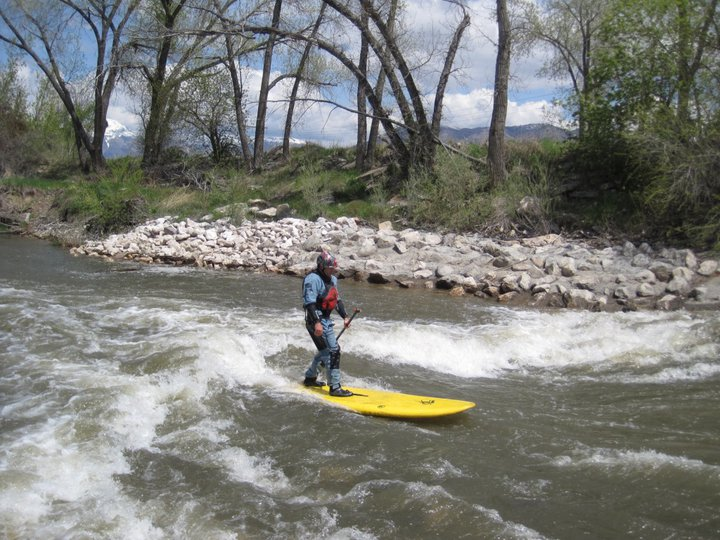Surfing on lunch break near Ogden, Utah
