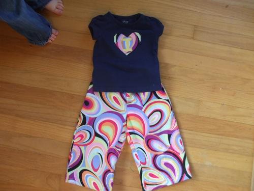 embellished shirt + matching pants!