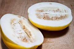Day 86: Sliced Korean Melon (matt.koenig) Tags: food fruit korea eat korean melon cuttingboard project365 koreanmelon canon5dii