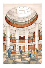rotund a small (utwebteam) Tags: building campus baker tour exterior amy interior renderings drawings center facilities blakely bakercenter prdrop