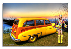 Futuramic (Bill Strong) Tags: beach sunrise wagon detroit woody woodward capecanaveral 88 oldsmobile woodwarddreamcruise futuramic gmfyi