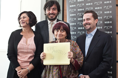 SCEE President Andrew House, MUBI founder and CEO Efe Çakarel,Celluloid Dreams and MUBI Europe President Hengameh Panahi, French director Agnes Varda