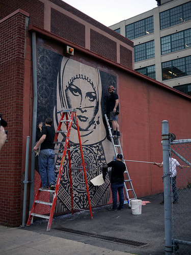 Sheppard Fairey on Walnut st