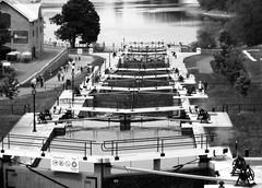 The Canal ~ Ottawa, Ontario (Sally E J Hunter) Tags: ontario canal blackwhite noiretblanc ottawa rideaucanal moo1