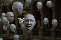 Kelvingrove heads (Chris Scyner) Tags: white art museum happy prime gallery sad glasgow expressions floating nikond70s installation heads surprise confused shock laughter grumpy confusing kelvingrove nikon50mmf18 sophiecave