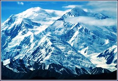 Mighty Mt. McKinley, Denali Park, Alaska, (moonjazz) Tags: travel snow rock closeup alaska landscape climb nationalpark big high amazing view spirit earth peak summit huge northamerica geography geology denali mckinley mighty conquer ascent ascend tallest vast greatone higest