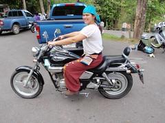DoiInthanon Nathalie sur la moto !