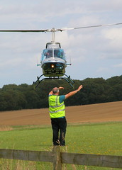 BELL 206L-3 G-ODCC (BIKEPILOT) Tags: flying airport aircraft aviation helicopter popham airfield starlight bell206l3 eghp godcc starlightchildrensday