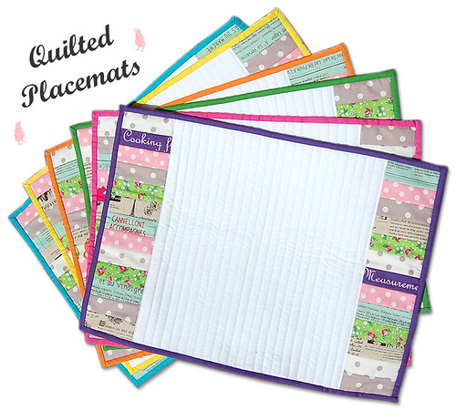 Pink Penguin Quilted Placemats Tutorial