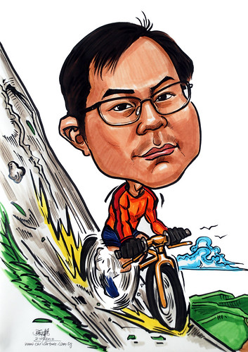 Caricatures for NUS -extreme cyclist