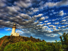 cape byron (paul bica) Tags: trees lighthouse tourism nature clouds outdoors view pacific au extreme scenic australia best nsw newsouthwales dex downunder capebyron easternmost dexxus 20100510au1091211hdr exploredmay28201026