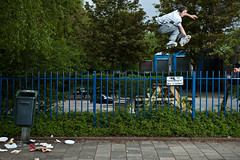 Pascal Tan - 180 (Bojd) Tags: dutch amsterdam sport fence jump tan gap spot 180 inline rollerblade trick pascal zuid extreem skatespot skatespots ditissoul