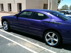 car colorful purple dodge charger