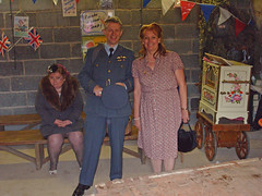 The 1940's Recalled : May Bank Holiday Monday , 2010 . (A Nottingham City Council Re-enactment Event) (Lenton Sands) Tags: nottingham 1940s memory gunner reenactment wartime airman royalairforce brewhouseyard clarenceburton 1940skneesup denewoodcrescent