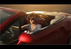 Laine ~ Convertible Beauty (~Phamster~) Tags: sun car canon convertible alienbee 35l strobist phamster cactusv4s