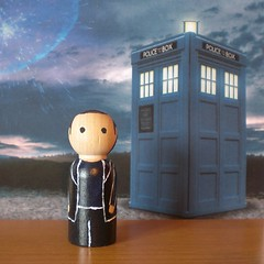 The Ninth Doctor - Christopher Eccleston (jen_random) Tags: wooden doll geek craft doctor doctorwho scifi etsy peg christophereccleston pegdoll randomlygenerated