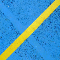 disabled parking (friendlydrag0n) Tags: blue texture yellow square parking stripe minimal line diagonal disabled restriction