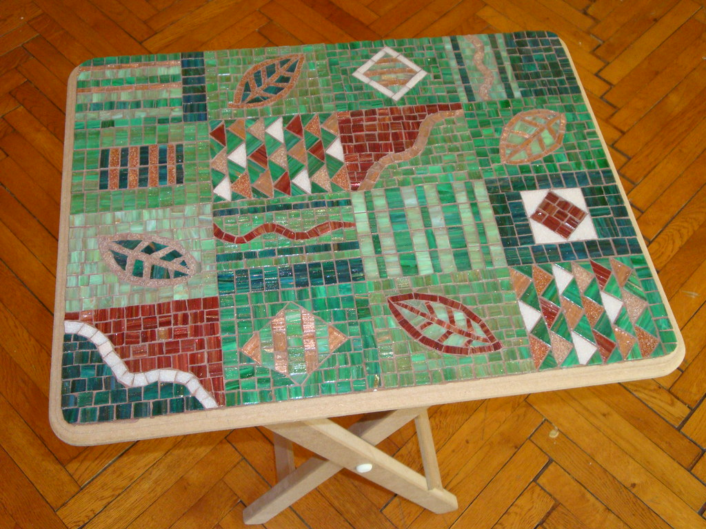 Forest Mosaic Coffee Table WIP 4 2010