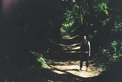 road across the wood (Virskiy) Tags: road wood man forest darkness kiev sednev