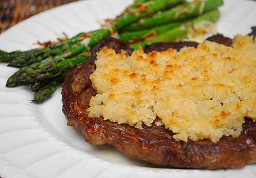 Horseradish Crusted Ribeye Steaks