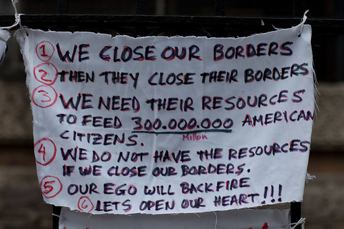 Immigration Reform Sign on 4th Street