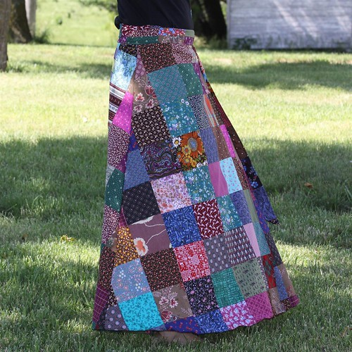 Boho Hippie Patchwork Wrap Skirt