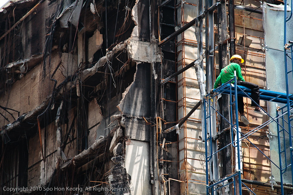 Rebuilding Central World (Aftermath) @ Bangkok, Thailand