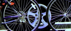 Wheels (nrhodesphotos(the_eye_of_the_moment)) Tags: metal spokes wheels nuts tires bicycles pedals rims gears lugs beautifulphoto dscn2975nhrtt