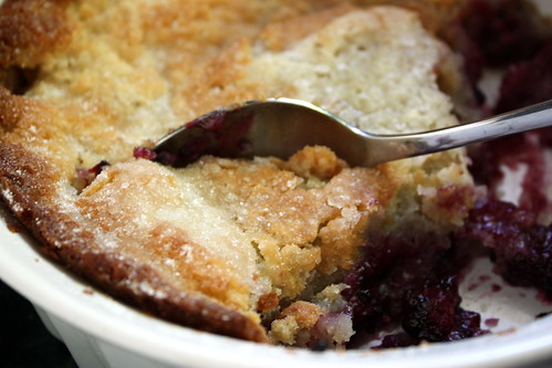 Scoop of cobbler