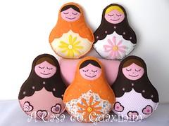Matrioskas (A.casa.do.Guaxinim) Tags: doll felt plushies softies feltro boneca matrioska
