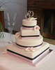 4 Tier Wedding Cake with Calla Lillies