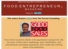 Tim Featured in Food Entrepreneur