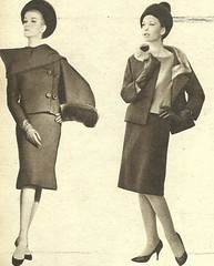 Dior-Cardin (Classic Style of Fashion (First)) Tags: hat pierrecardin vintagefashion vintagemagazines 1960s christindior 1960sfashion