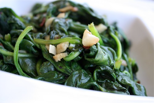Spinach with Chili Oil
