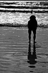 (myrika) Tags: sea blackandwhite mer france reflection beach surf britain surfer bretagne vagues plage contrejour finistere wawes noiretlanc