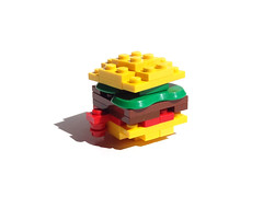 Hamburger (P E U F) Tags: food lego sandwich eat steak hamburger page wendys custom facebook