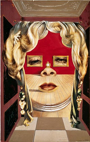 dali - the face of mae west as an apartment