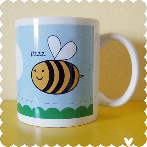 Bee & Tulip Mug