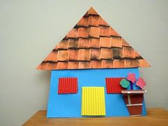 color house - papercraft