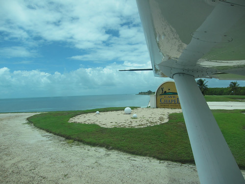 Leaving Caye Chapel