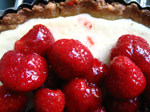 Fresh Strawberry and Ricotta tart